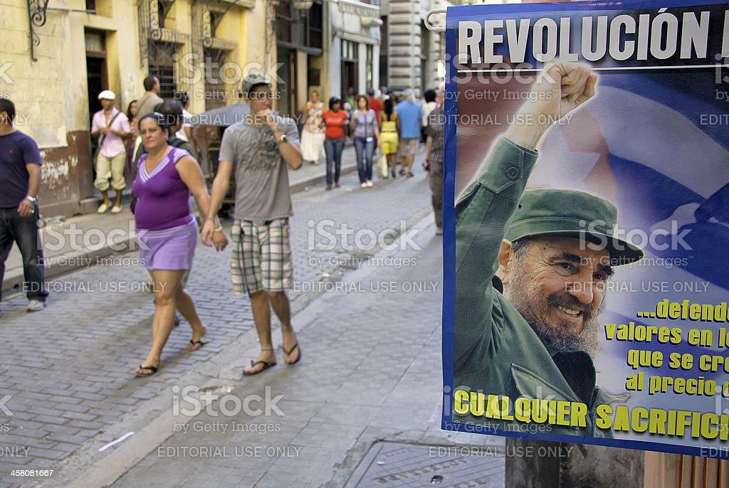 People Walking in Old Havana stock photo