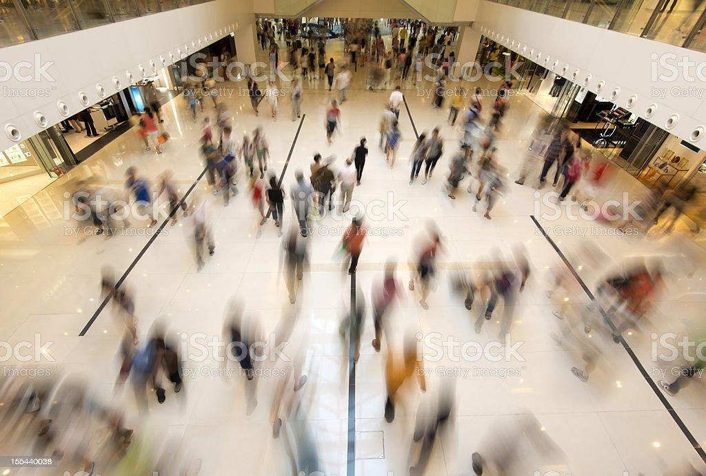People Walking in Shopping royalty-free stock photo