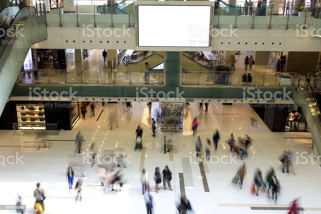 People Walking in Shopping royalty-free stock photo