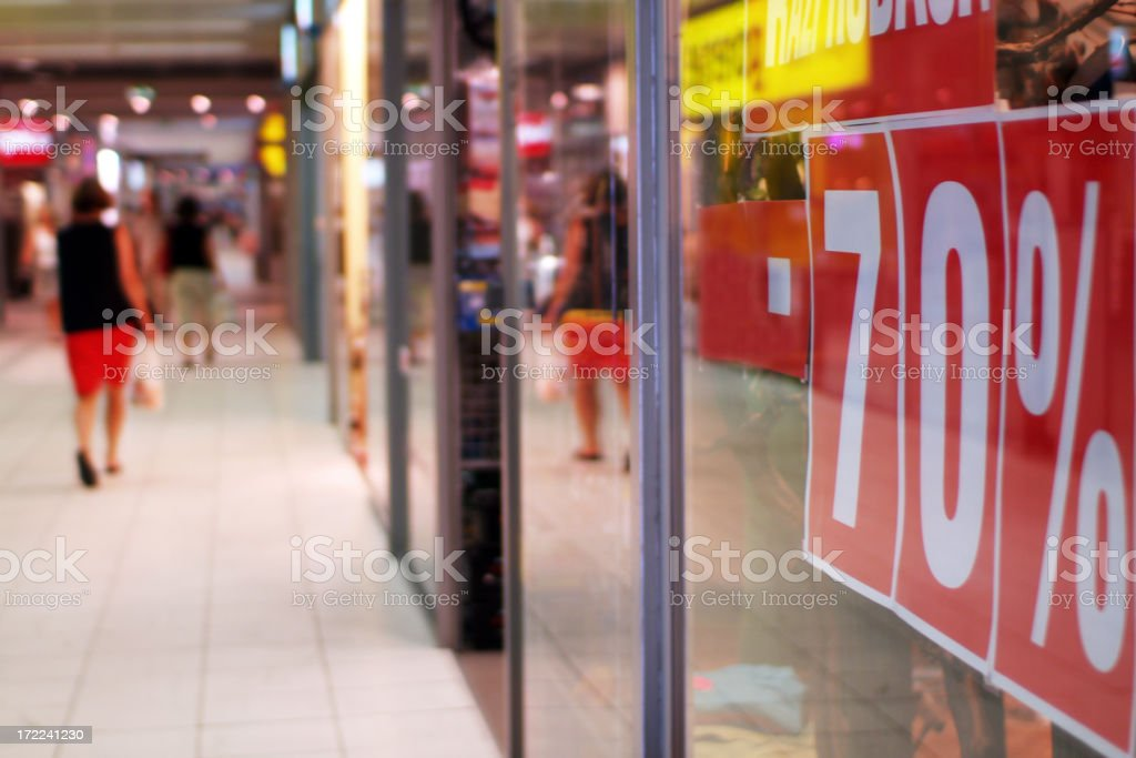 People walking inside a shopping mall stock photo