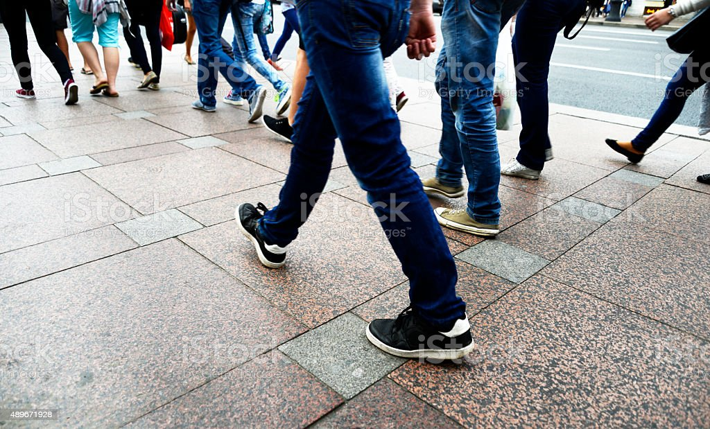 People walking, Moscow stock photo