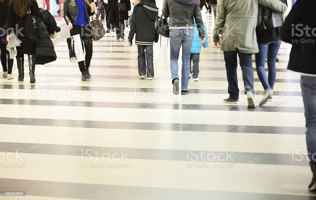 People walking, motion blur royalty-free stock photo