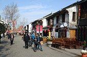 People walking on Nanchang street, Wuxi, Jiangsu province, China