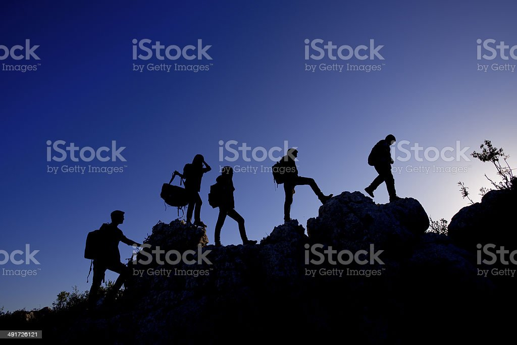 people walking stock photo