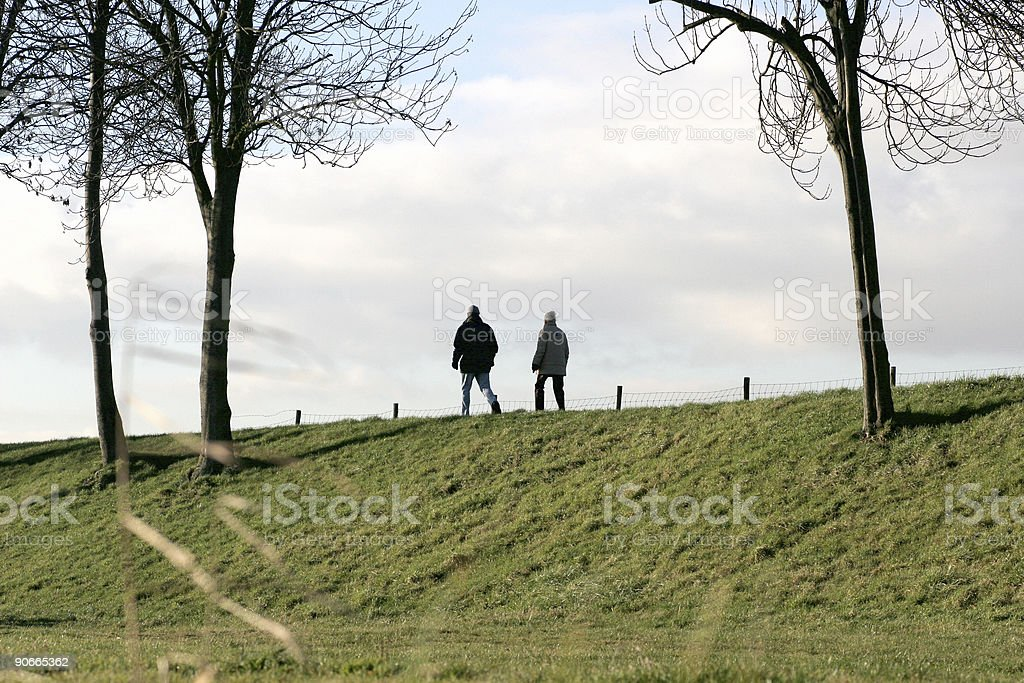 People walking royalty-free stock photo