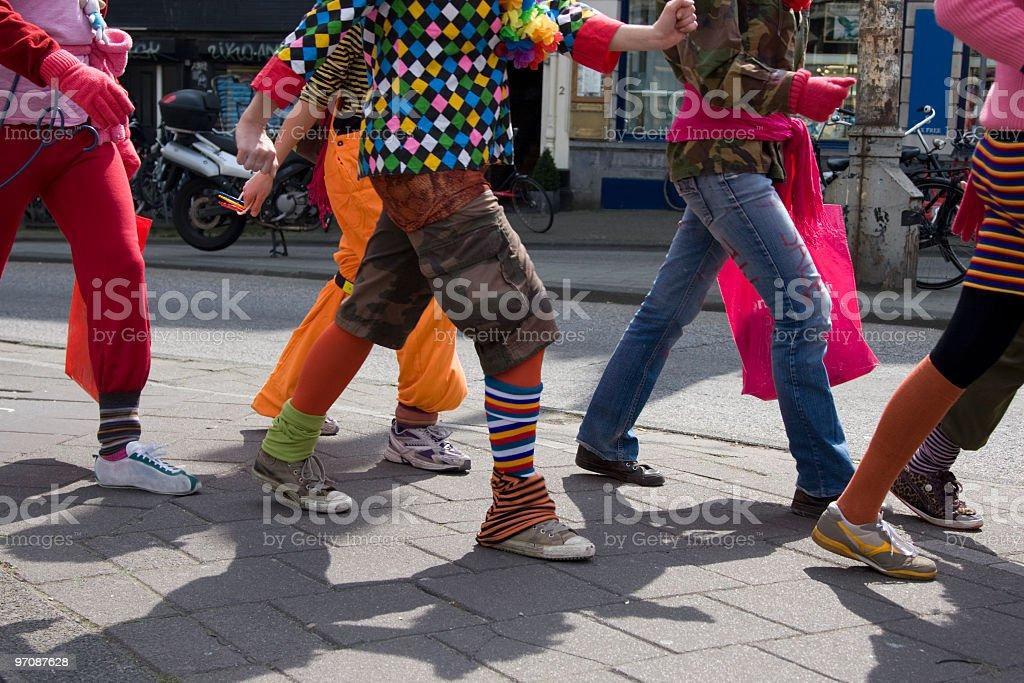 People walking royalty-free stock photo