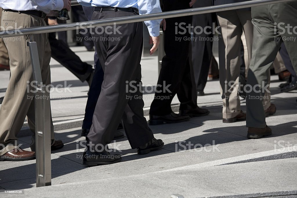 People walking to a business event at Moscone Center royalty-free stock photo