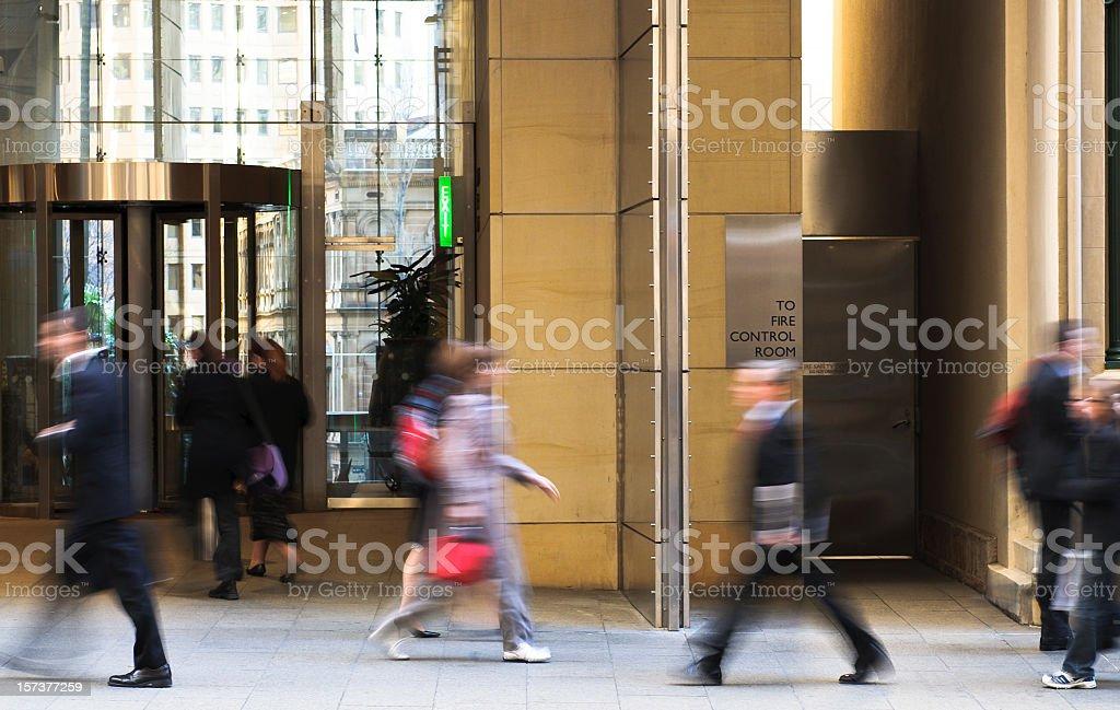 People Walking to Work stock photo