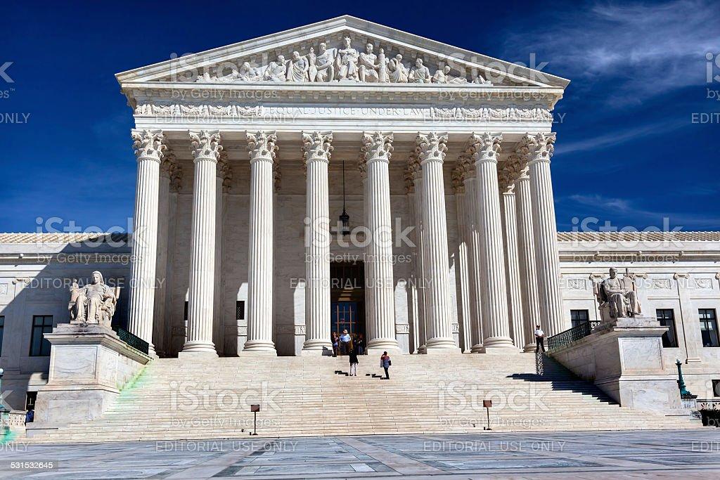 People Walking US Supreme Court Capitol Hill Daytime Washington DC stock photo