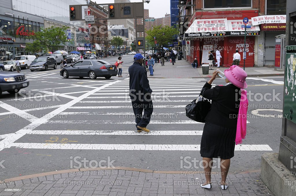 People Walking,NYC royalty-free stock photo