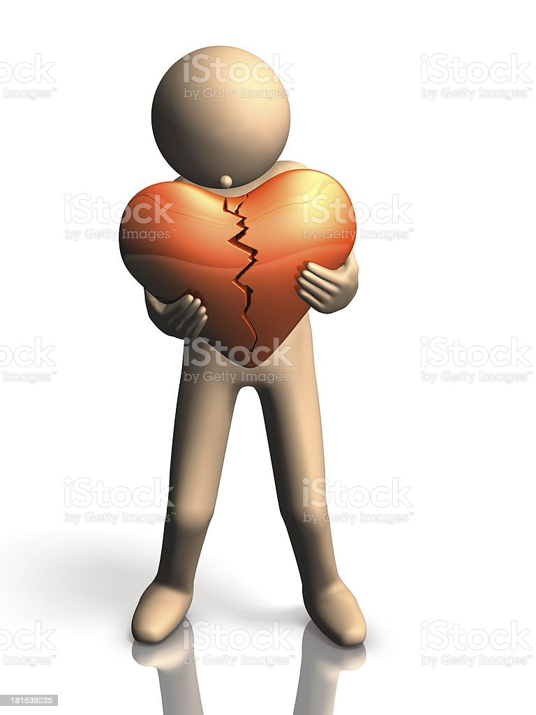 People who suffer from a broken heart royalty-free stock photo