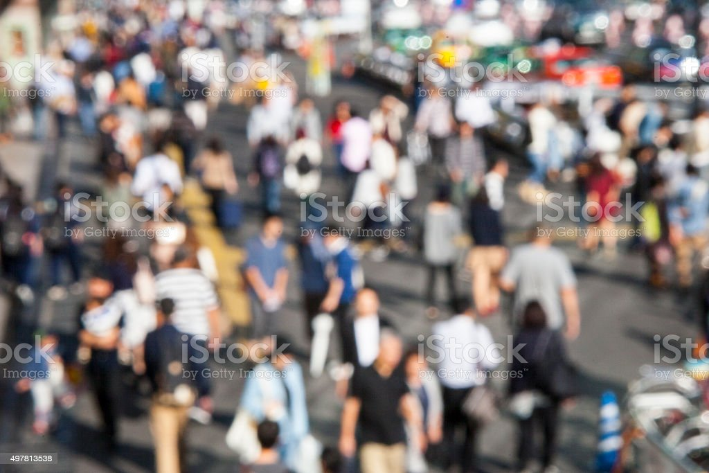 People who walk the streets stock photo