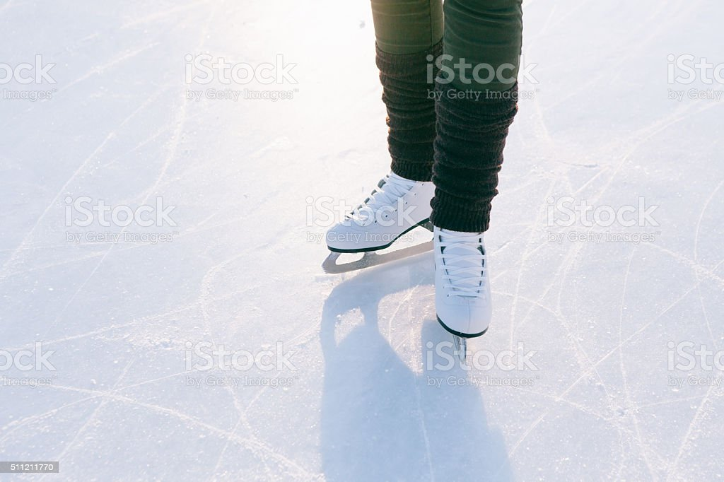 people, winter sport and leisure concept. stock photo