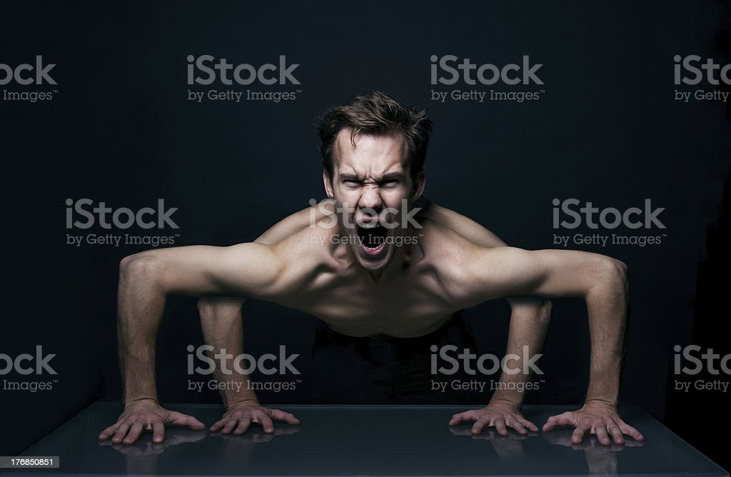 People with 4 hands royalty-free stock photo