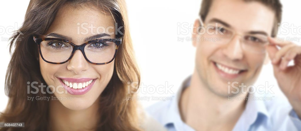 People with eyeglasses. royalty-free stock photo