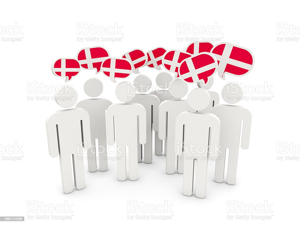 People with flag of denmark stock photo
