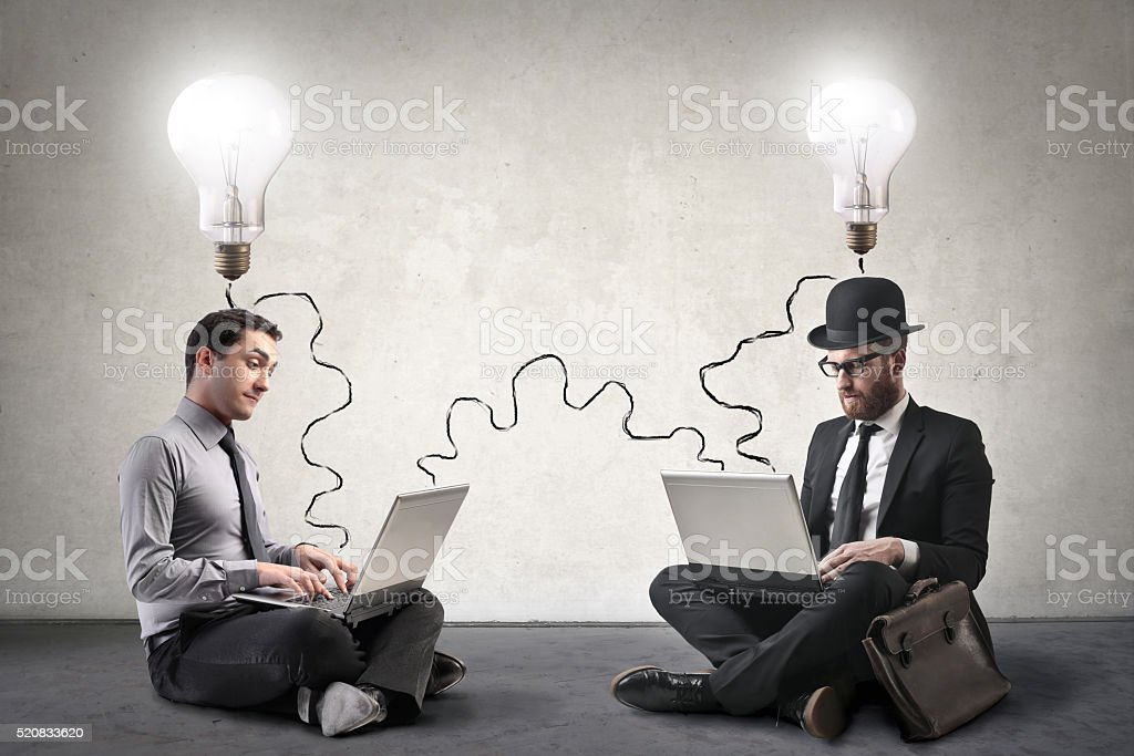 People with ideas stock photo