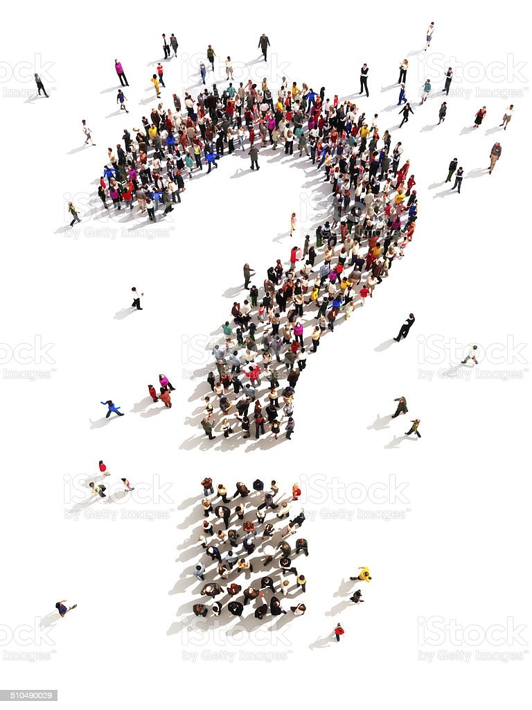 People with questions stock photo