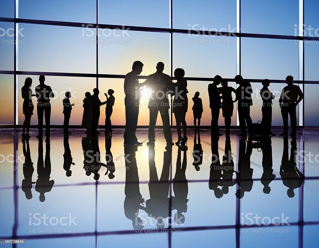 People working in a busy international office. royalty-free stock photo