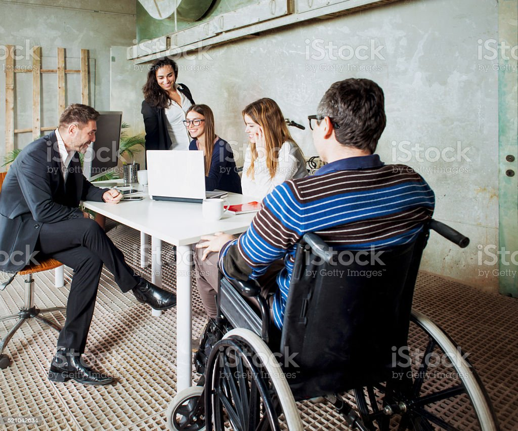 People Working in a Start Up Company stock photo
