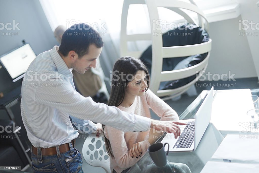 People working in an interior design office royalty-free stock photo