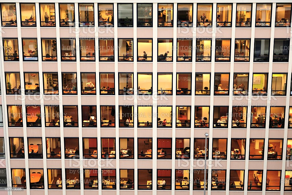 People working in an office stock photo