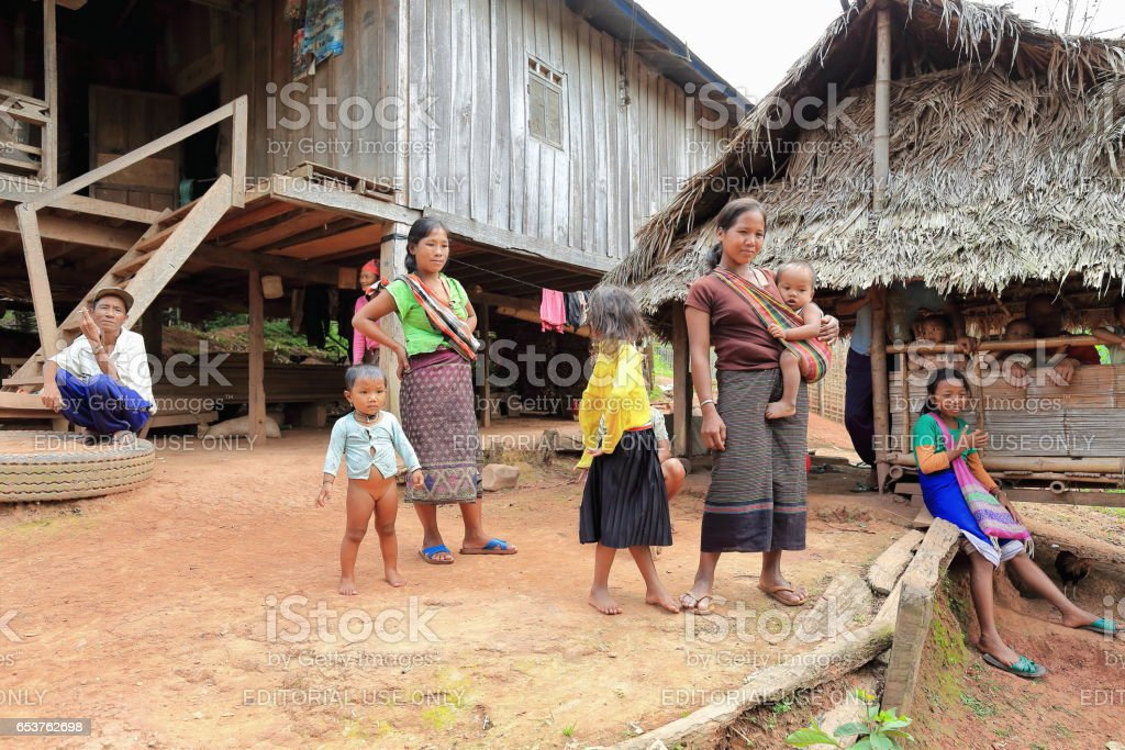 People-Akha hill tribe. Nam Ha conservation area-Luang Namtha province-Laos. 3329 stock photo
