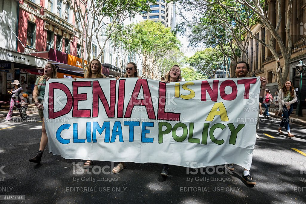 People's Climate March 2014, Brisbane, Australia stock photo