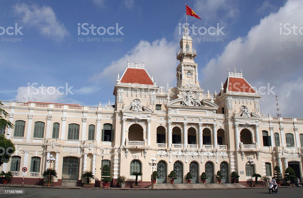 people's committee building ho chi minh city royalty-free stock photo
