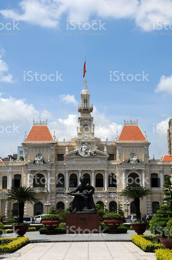 People's Committee Building, Ho Chi Minh royalty-free stock photo