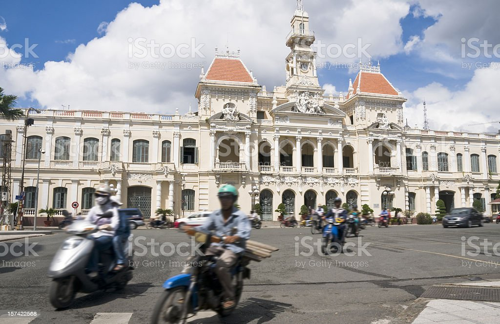 Peoples Committee Building In Ho Chi Minh City (Saigon), Vietnam royalty-free stock photo