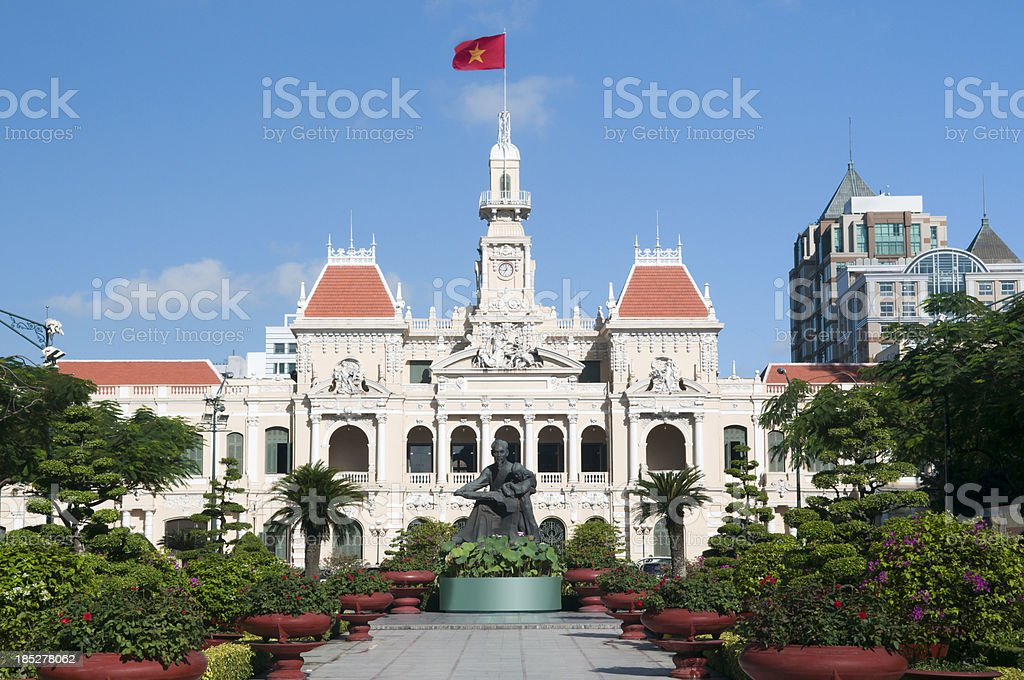 People's Committee Hall Saigon Ho Chi Minh City royalty-free stock photo