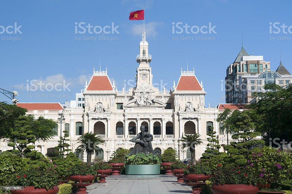 People's Committee Hall Saigon Ho Chi Minh City stock photo