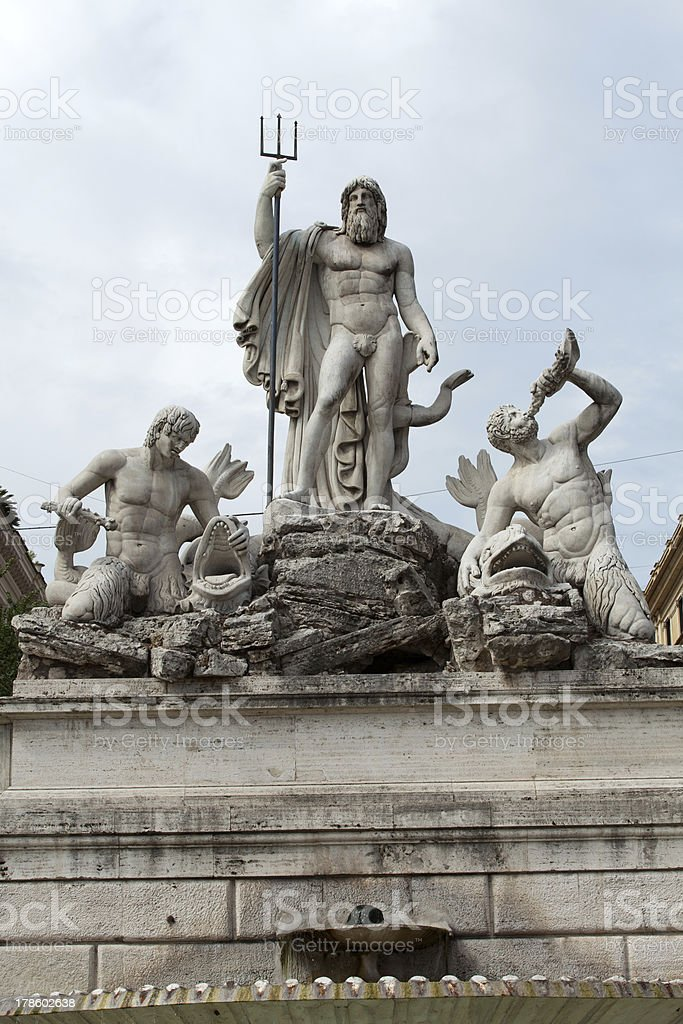 Porta del Popolo in Rome stock photo