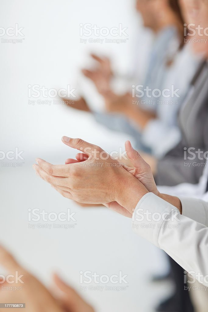 People's hands clapping stock photo