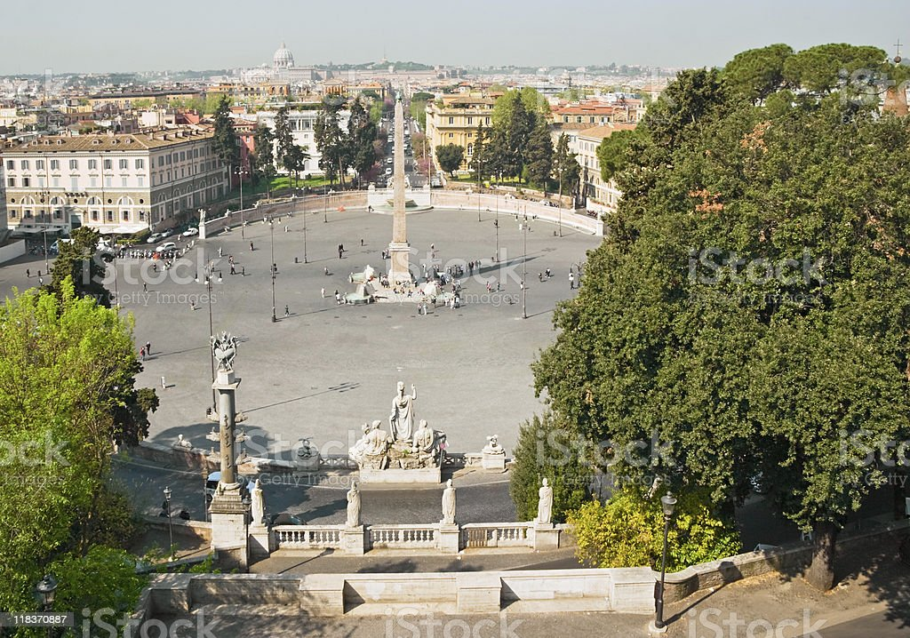 Piazza del Popolo royalty-free stock photo