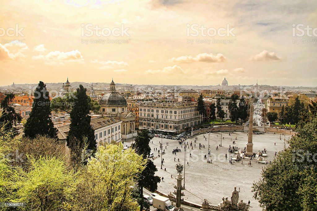 Piazza del Popolo, Rome royalty-free stock photo