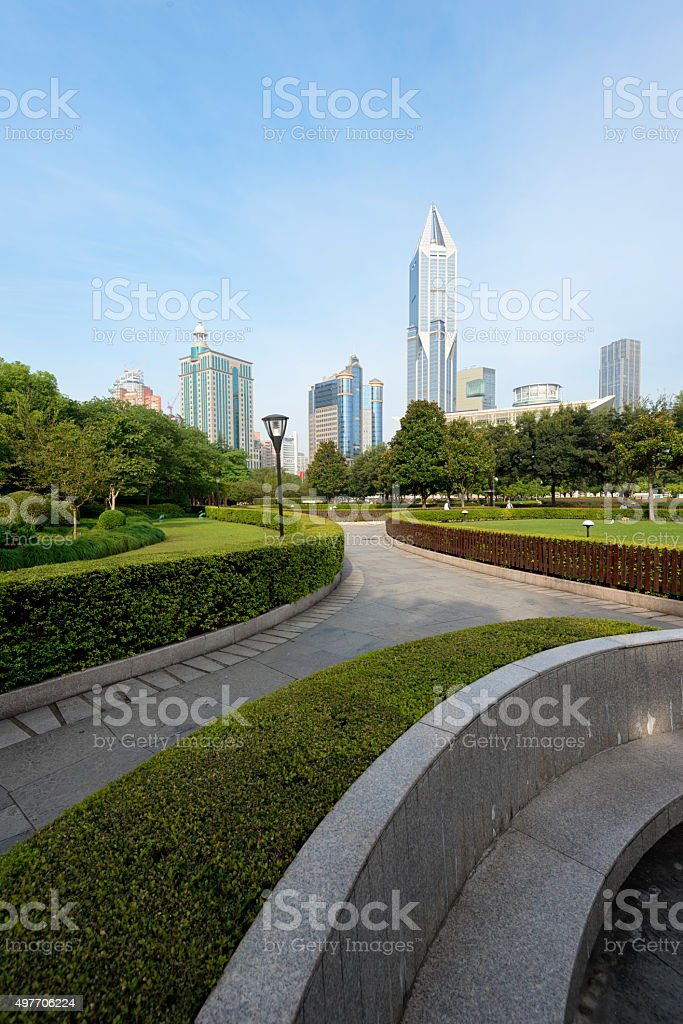 People`s Square, Shanghai, China stock photo