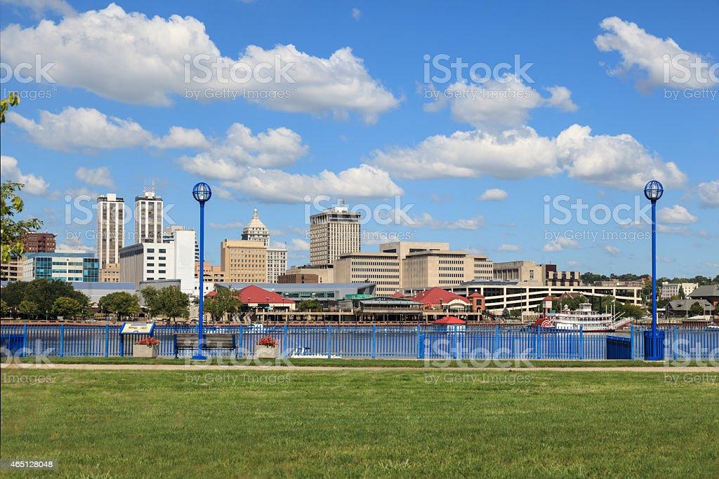 Peoria, Illinois Downtown Riverfront stock photo