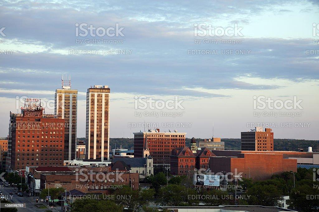 Peoria skyline stock photo