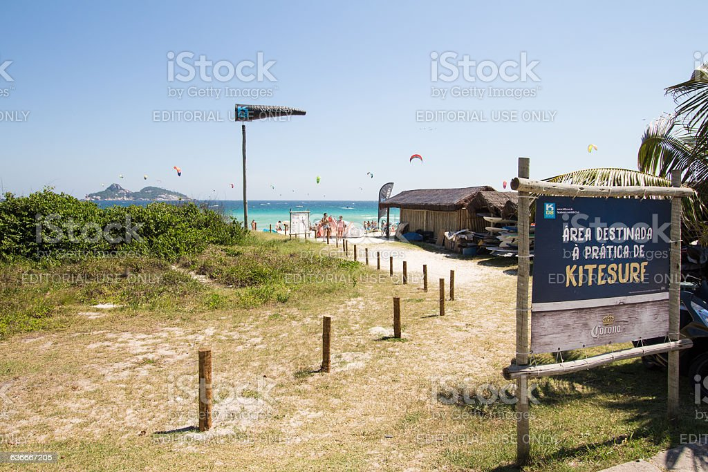 Pepe Beach. Kite Surf stock photo