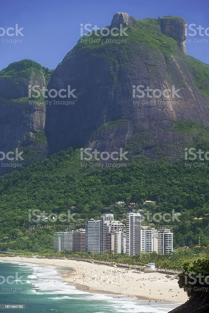 Pepino Beach in Rio de Janeiro stock photo