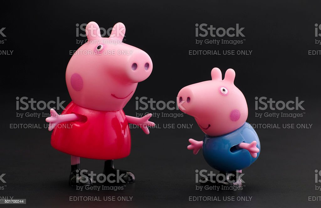 Peppa Pig and George Pig stock photo