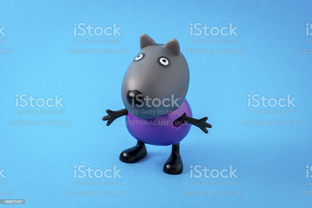 Peppa Pig animated television series characters: Danny Dog stock photo