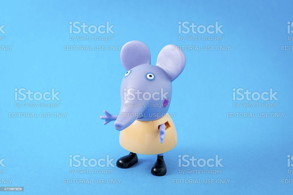 Peppa Pig animated television series characters: Emily Elephant stock photo