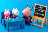 Peppa Pig animated television series characters: Peppap, Suzy, Madame Gazelle