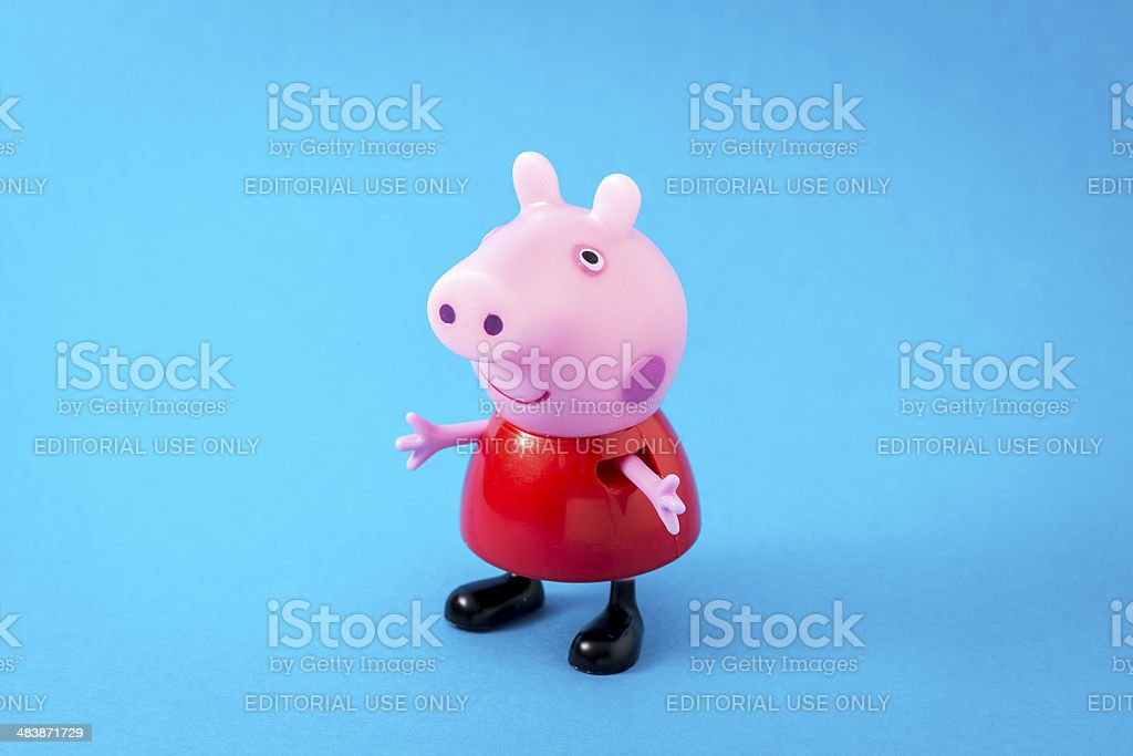 Peppa Pig animated television series characters: PeppaPig royalty-free stock photo