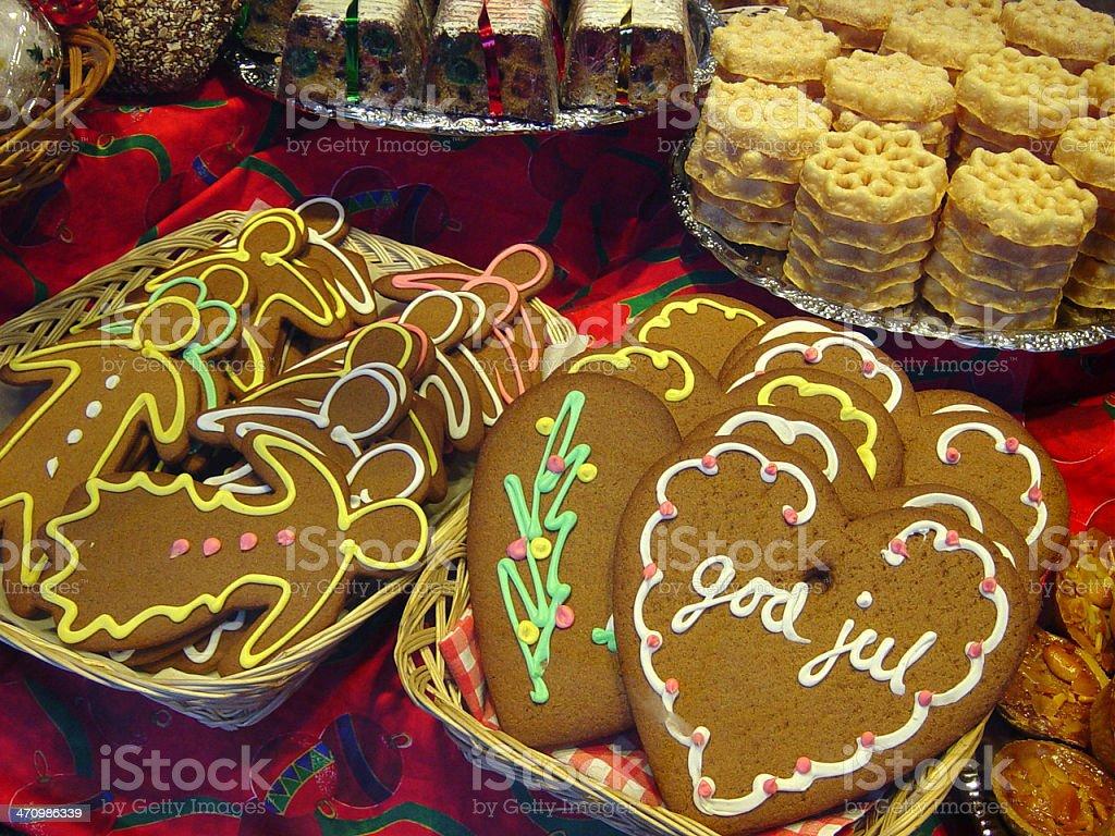 pepparkakor (gingerbread cookies stock photo