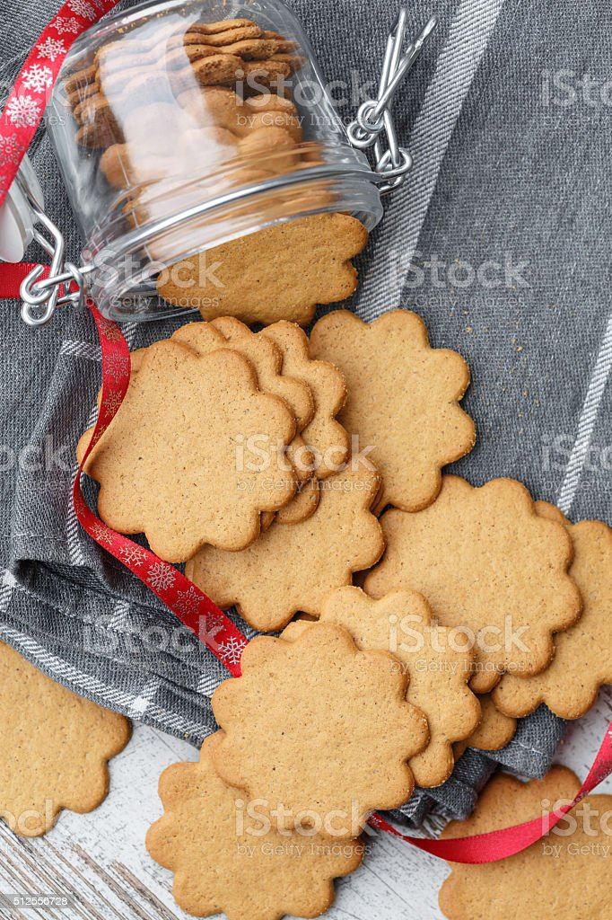 Pepparkakor (Swedish Ginger Cookies) stock photo