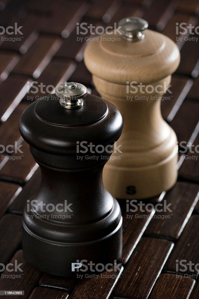Pepper and salt royalty-free stock photo